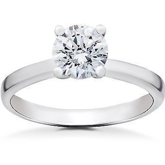 1 ct Lab gemaakt van Eco vriendelijke Diamond Angelica Engagement Ring 14 k White Gold