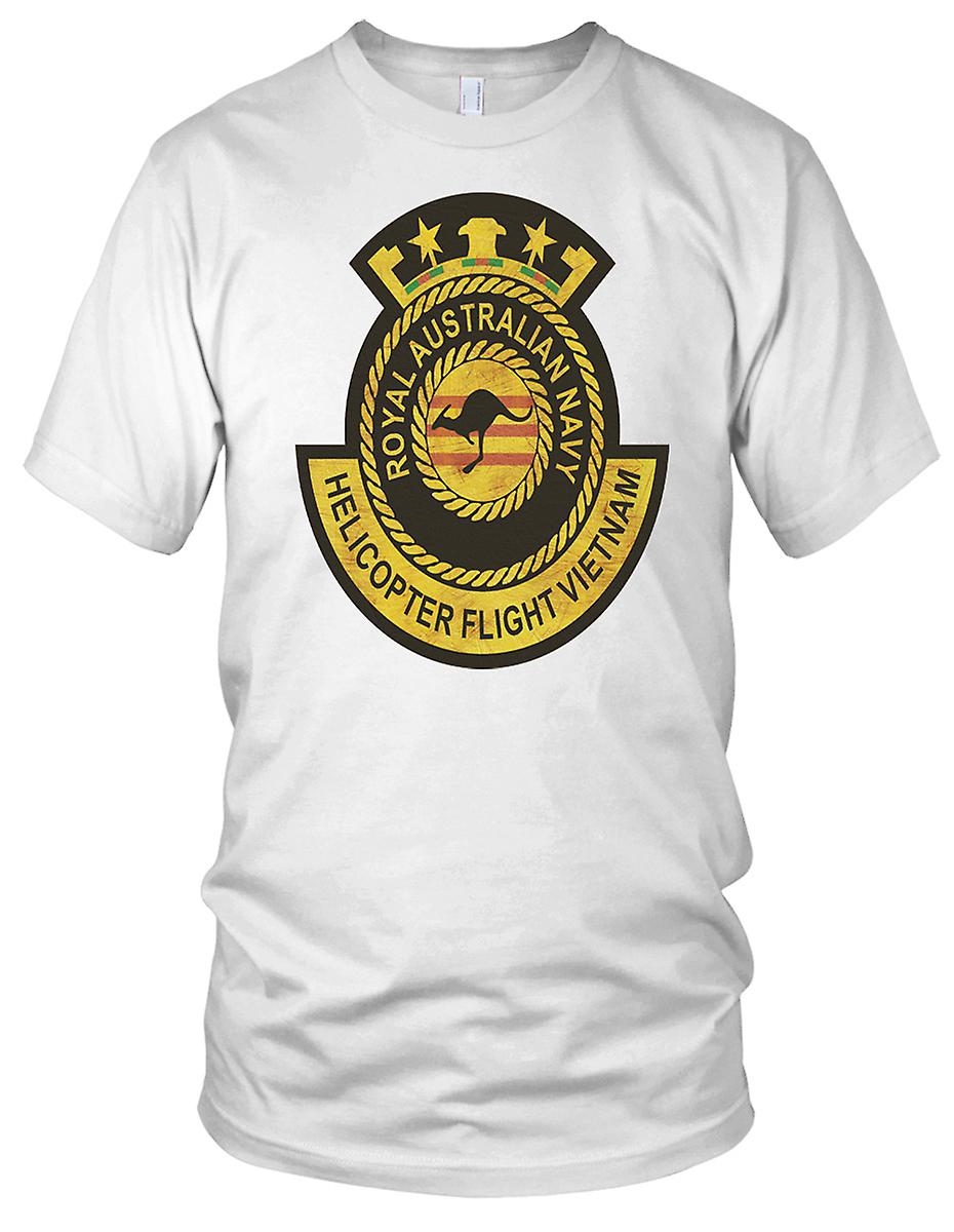 Kongelig australsk marinen helikopter Flight Vietnamkrigen Grunge effekt Kids T skjorte