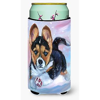 Puppy Chase Corgi Tall Boy beverage Insulator Hugger
