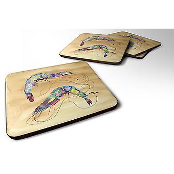 Carolines Treasures  8158-FC Set of 4 Shrimp  Foam Coasters