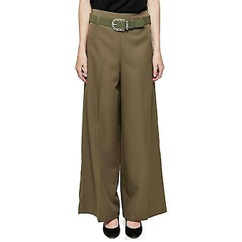 High Rise Wide Flared Trousers