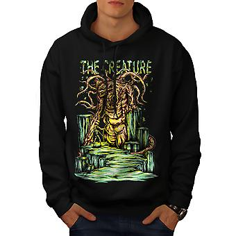 Creature Monster Horror Men BlackHoodie | Wellcoda
