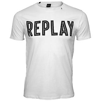 Replay vet Logo T-Shirt, wit