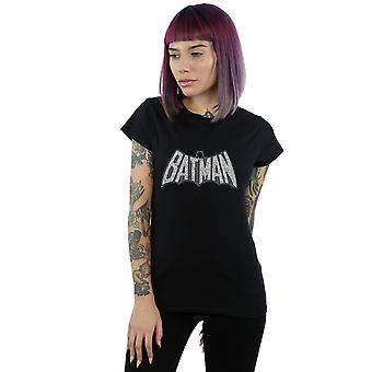 DC Comics Women's Batman Retro Crackle Logo T-Shirt