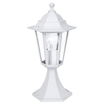 Eglo Lanterna Small White Pillar Lantern Light