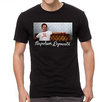 T-shirt engraçado preta Napoleão Napoleão dinamite sofá masculina