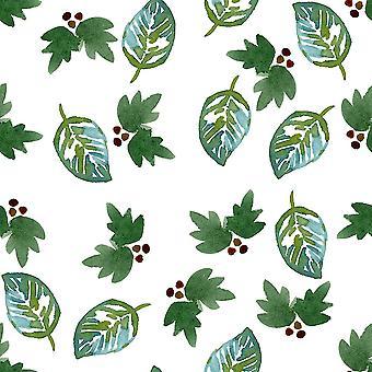Grüne Blätter Poster Print von Elise Engh