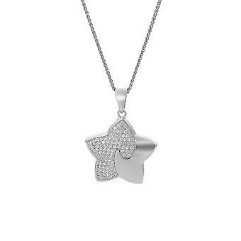 Orphelia Silver 925 kedja med hänge stjärna med zirkonium ZH-7331