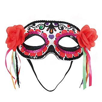 Domino naamio kukkia nauhoja Meksikon päivä kuollut lisävaruste