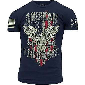 Grunt Style American Performance T-Shirt - Large - Navy