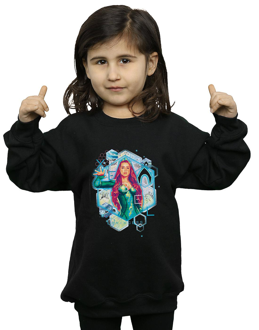 DC Comics Girls Aquaman Mera Geometric Sweatshirt