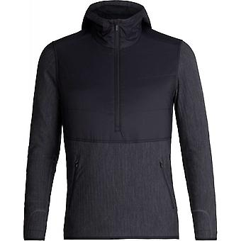 Icebreaker Descender Hybrid Jacket - Black/Jet Heather