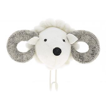 Fiona Walker England Big Felt Ram Head Coat Hook