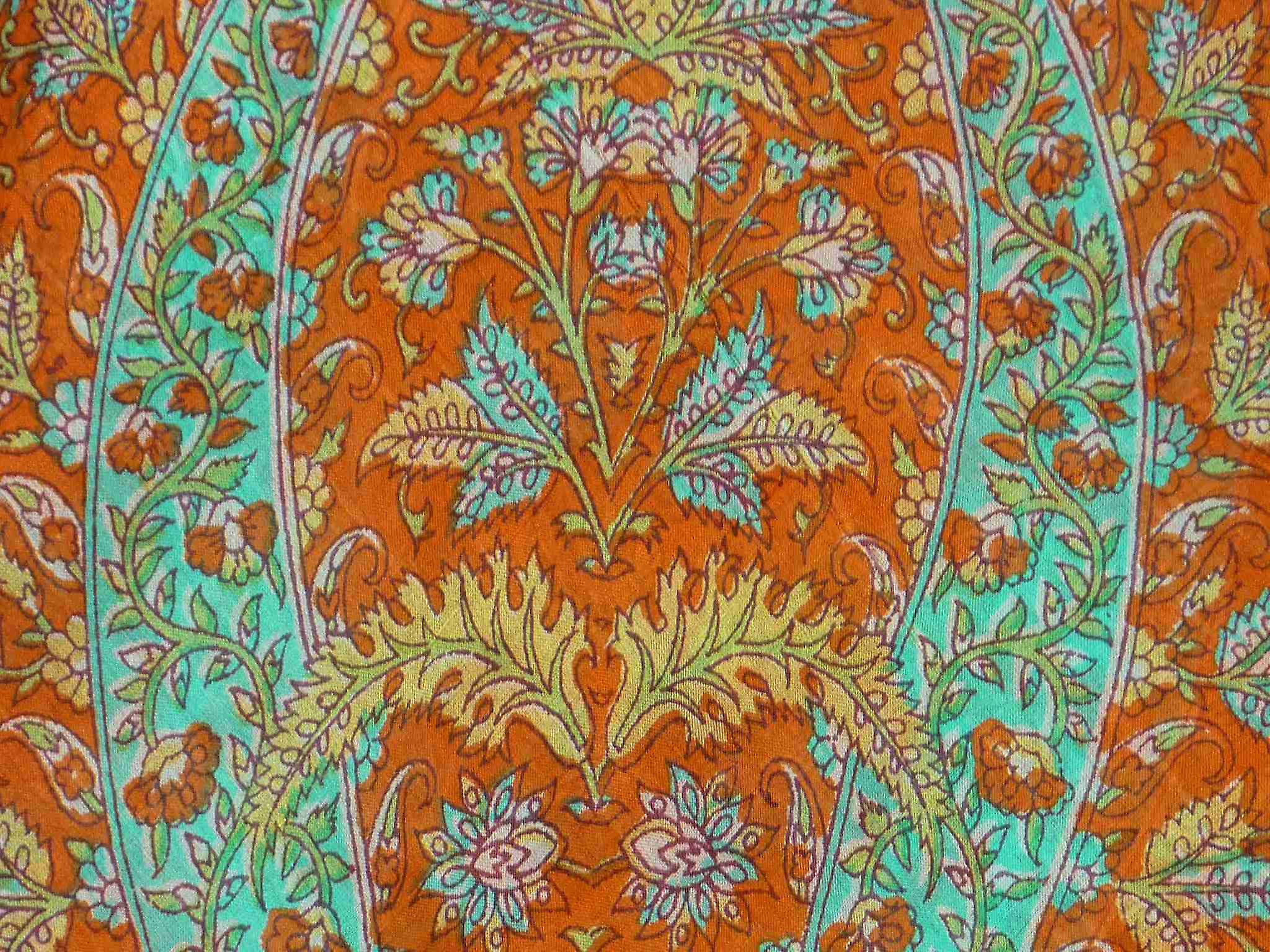 Mulberry Silk Traditional Square Scarf Kiara Terracotta by Pashmina & Silk