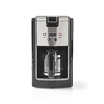 NEDIS KACM120EBK Kaffeemaschine 12 Tasse Inhalt 24-Stunden Timer schwarz