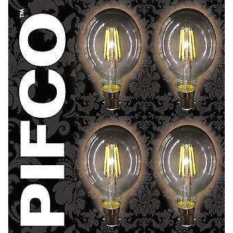 4 x PIFCO LED Vintage Retro Candle Globe GLS B22 B15 SES ES Light Bulbs