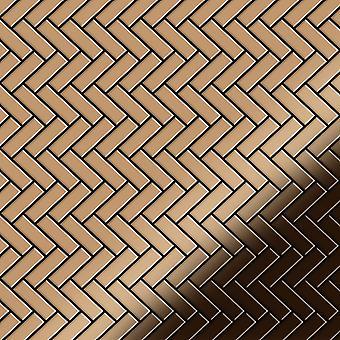 Metal mosaic Titanium ALLOY Herringbone-Ti-AM