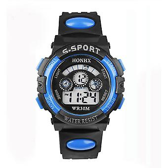 Honhx Childrens Kids Boys Girls Digital Sport Watch Blue Stopwatch Alarm Date Multifunction