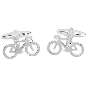 Zennor Bicycle Cufflinks - Silver
