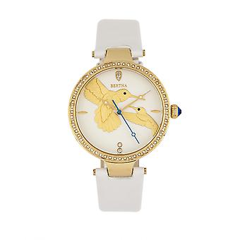 Montre Bertha Nora Leather-Band-blanc
