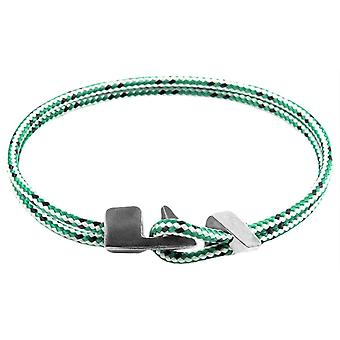 Anchor and Crew Brixham Dash Rope Bracelet - Green/White