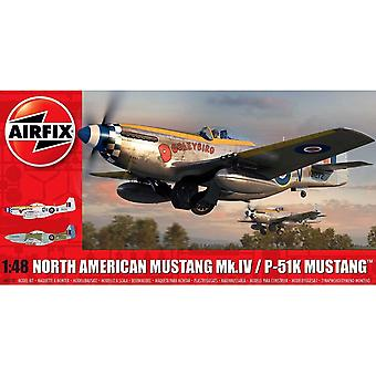 Airfix A05137 Nord America Mustang Mk.IV 1:48 Scala Modello Kit