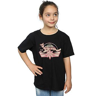 Marvel Girls Captain Marvel Chillin Goose T-Shirt