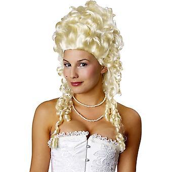 Blondi peruukki Marie Antoinette puku