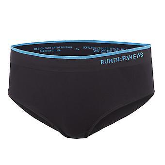 Runderwear Womens dames lage opkomst Hipster met korte ondergoed zwart