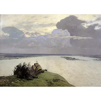 Landschap, Isaac Levitan, 60x43cm