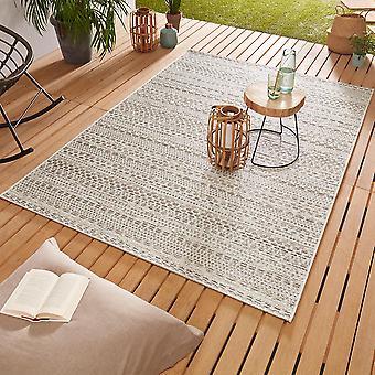 Ontwerp Outdoorteppich Web tapijt vlak geweven | Pine crème taupe