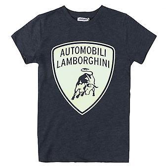 Lamborghini Kids Automobili Lamborghini T-Shirt,Blue Melange
