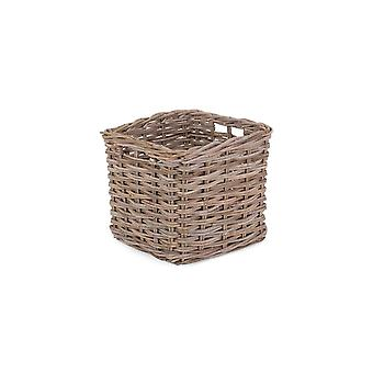 Square Kubu Grey Rattan Storage Basket