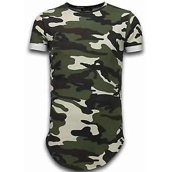 Known Camouflage T-shirt - Long Fit -Shirt Army - Green