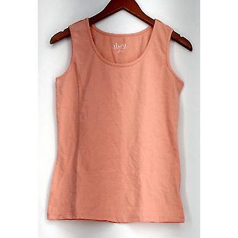 Denim & Co. XXS Sleeveless Scooped Neckline Top Orange NWOT A265695
