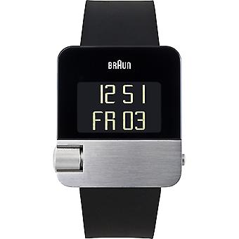 Braun prestige digital Quartz Digital Men's Watch with Silicone Bracelet BN0106SLBKG