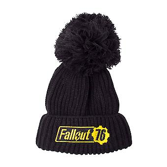 Fallout Beanie Hat Fallout 76 Logo Bobble new Official  Black