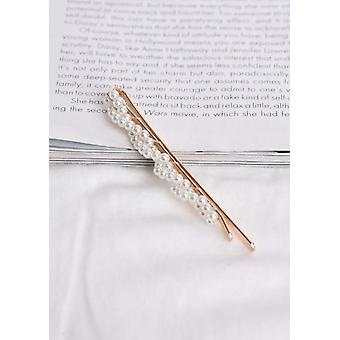 Twist Pearl Hair Slide Gold