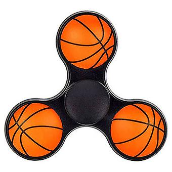 Hand Spinner 3D Basketball in black
