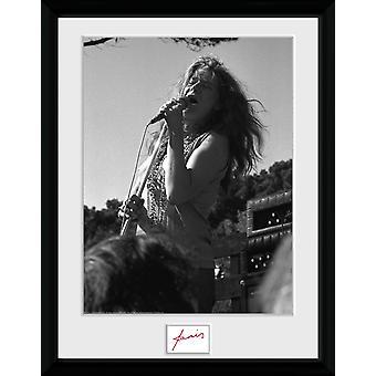 Janis Joplin Singing BW Collector Print 30,5 x41cm