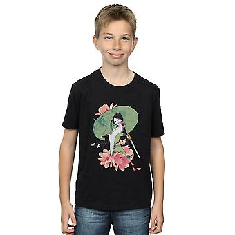 Disney Boys Mulan Magnolia Collage T-Shirt