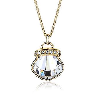 Elli Necklace with Women's Pendant Plated Gold with White Crystal - 45 cm