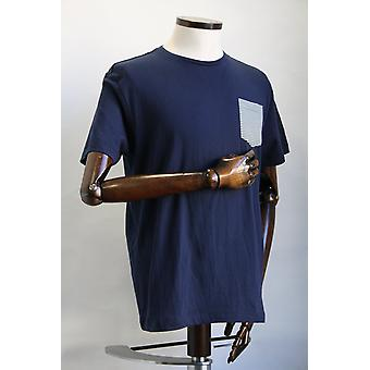 Merc London Eagle Blue Patch Pocket T-Shirt