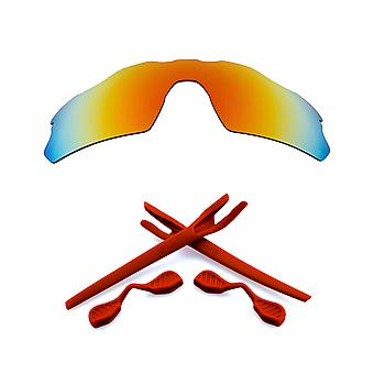 Polarized Replacement Lenses & Kit for Oakley Radar EV Path Red Mirror & Red Anti-Scratch Anti-Glare UV400 by SeekOptics