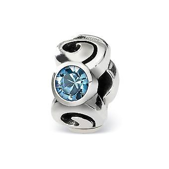 925 sterling silver polerad antik finish reflektioner mars kristall pärla charm