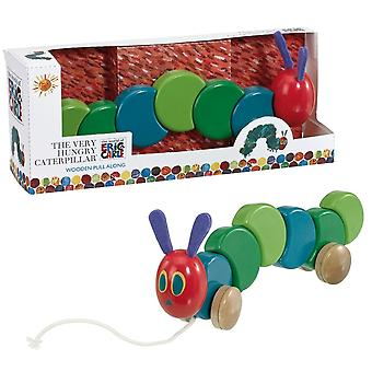 Rainbow Designs Very Hungry Caterpillar Wooden Pull Along