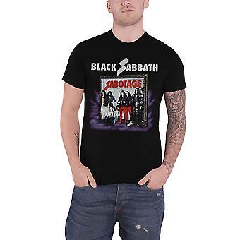 Black Sabbath T Shirt Sabotage Vintage distressed band logo Official Mens Black