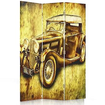 Room Divider, 3 Panels, Double-Sided, 360 ° Rotatable, Canvas, Auto Retro