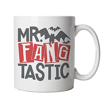 Mr Fangtastic Mug | Halloween Fancy Dress Costume Trick Or Treat | Hallows Eve Ghost Pumpkin Witch Trick Treat Spooky | Halloween Cup Gift