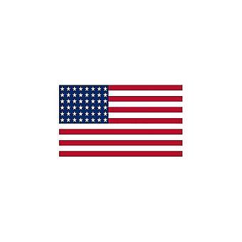 Naklejka Naklejka Motocykl Car Flag USA USA 48 Gwiazdki